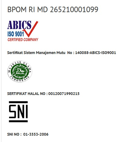 sertifikasi halal & ISO9001